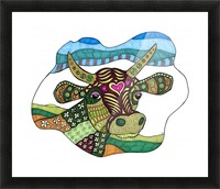 Elsie Cow Picture Frame print