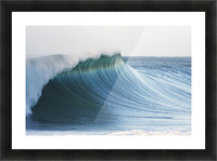 Hawaii, Oahu, Beautiful Wave Breaking. Picture Frame print