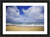 USA, Hawaii, Rainbow at Baldwin Beach; Maui Picture Frame print