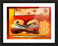 Vioselinna - violin backed beauty Picture Frame print