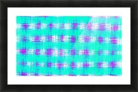 plaid pattern graffiti painting abstract in blue green and pink Picture Frame print