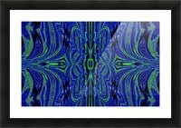 Blue Butterfly in Green Picture Frame print