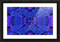 Butterfly in the Blue Picture Frame print