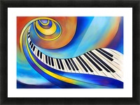 Redemessia - spiral piano Picture Frame print