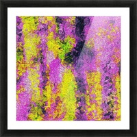 vintage psychedelic painting texture abstract in pink and yellow with noise and grain Picture Frame print