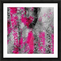 vintage psychedelic painting texture abstract in pink and black with noise and grain Picture Frame print