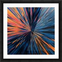 psychedelic splash painting abstract pattern in orange brown pink blue Picture Frame print