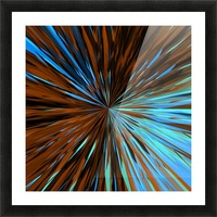 psychedelic splash painting abstract pattern in brown and blue Picture Frame print