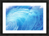 Hawaii, Oahu, North Shore, Curling Wave At World Famous Pipeline. Picture Frame print