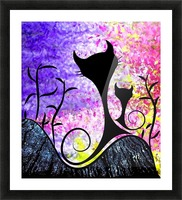 Messemios - black cats Picture Frame print