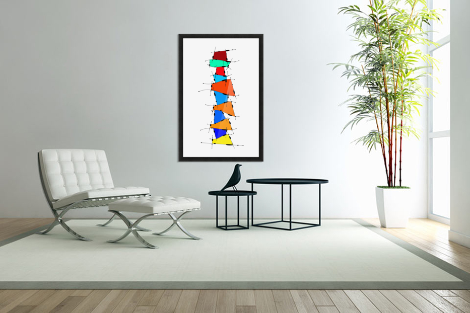 Sanomessia - melting cubes in Custom Picture Frame