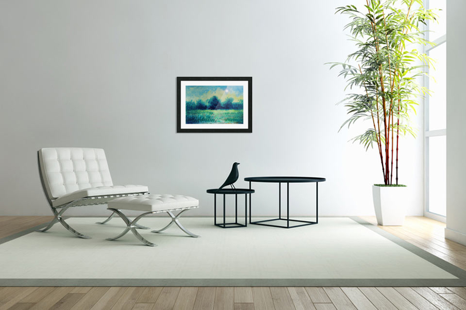 Landscape and Sun in Custom Picture Frame