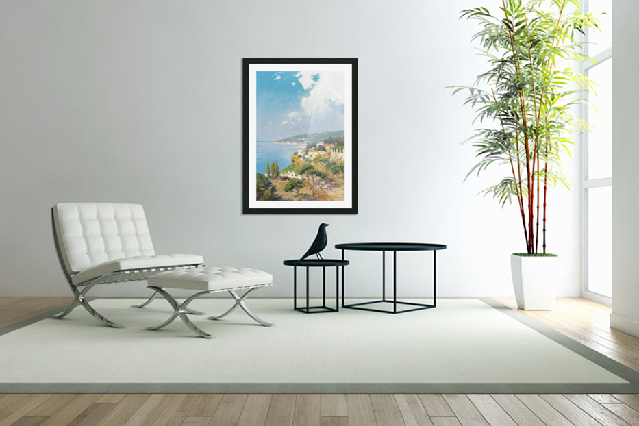 Sunny day on Naples Bay in Custom Picture Frame