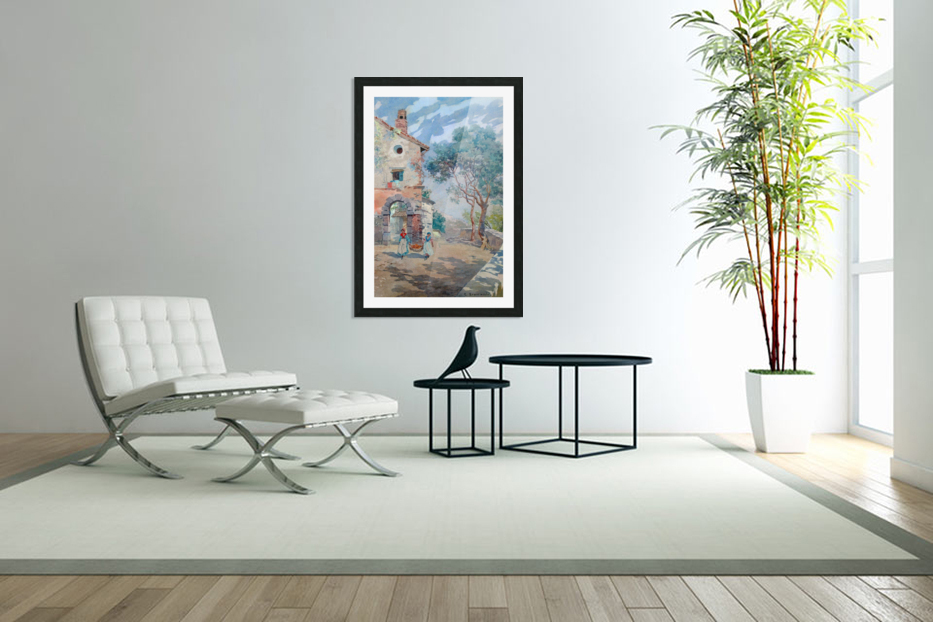 Two girls carrying fruits to their house in Custom Picture Frame