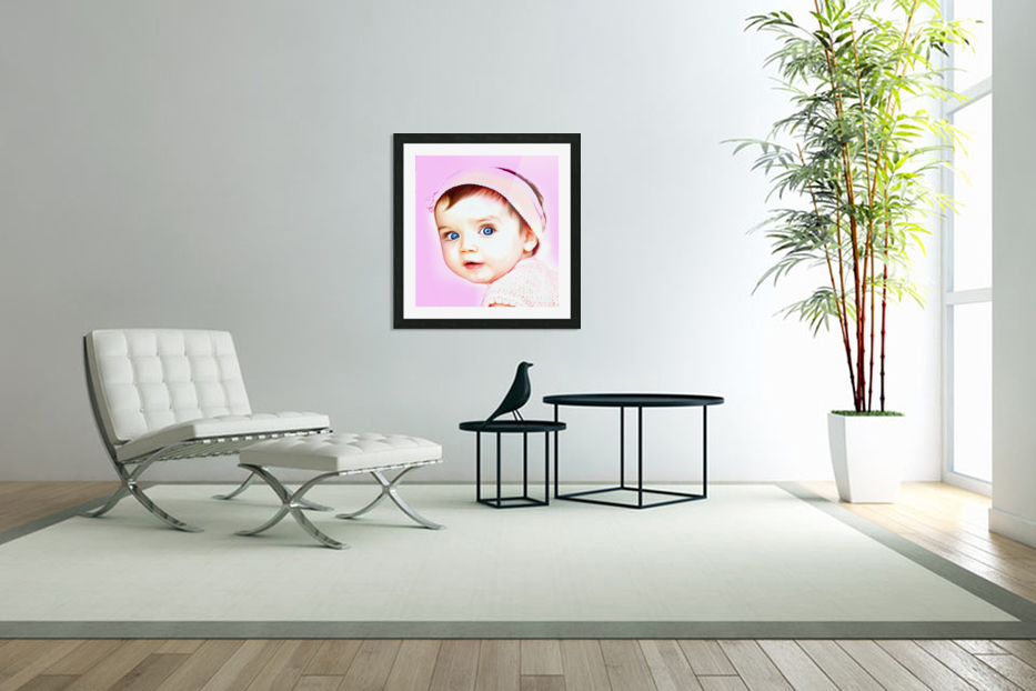 Cute Baby Pic Art in Custom Picture Frame