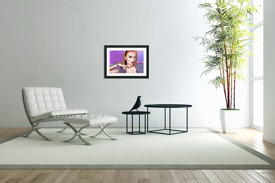 Pretty Lady in Custom Picture Frame