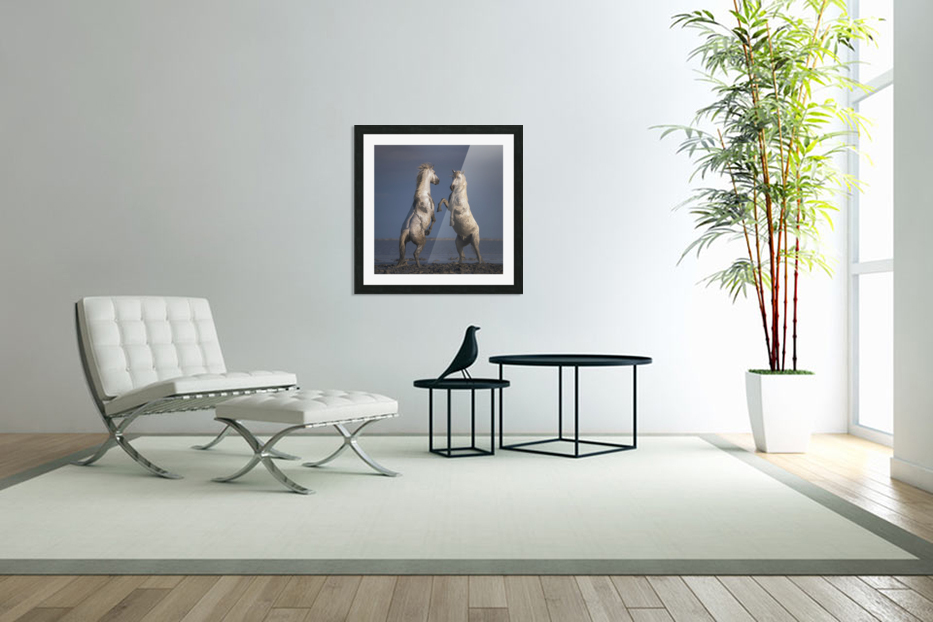 Confrontation in Custom Picture Frame