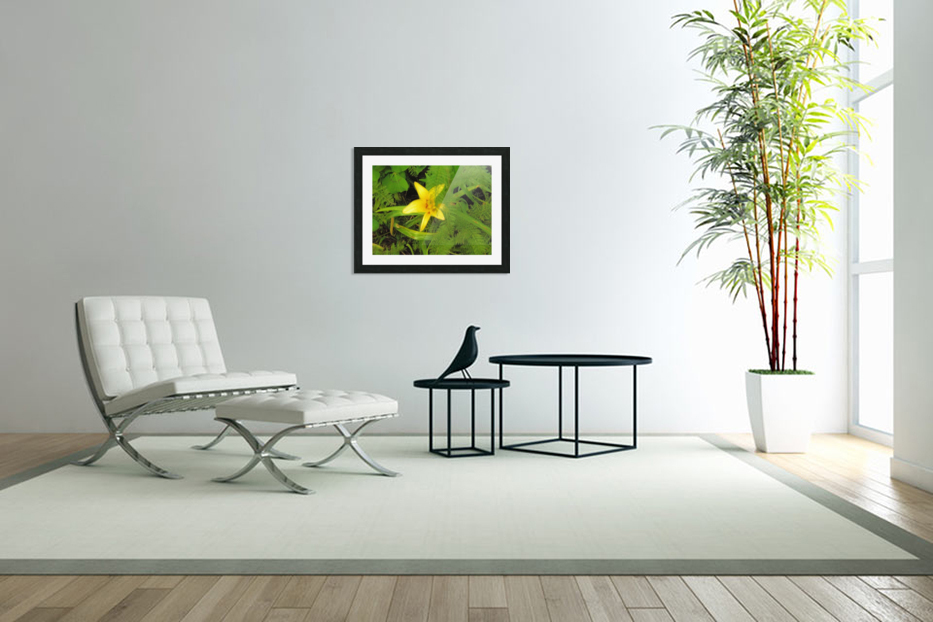 Yellow Flower in Custom Picture Frame