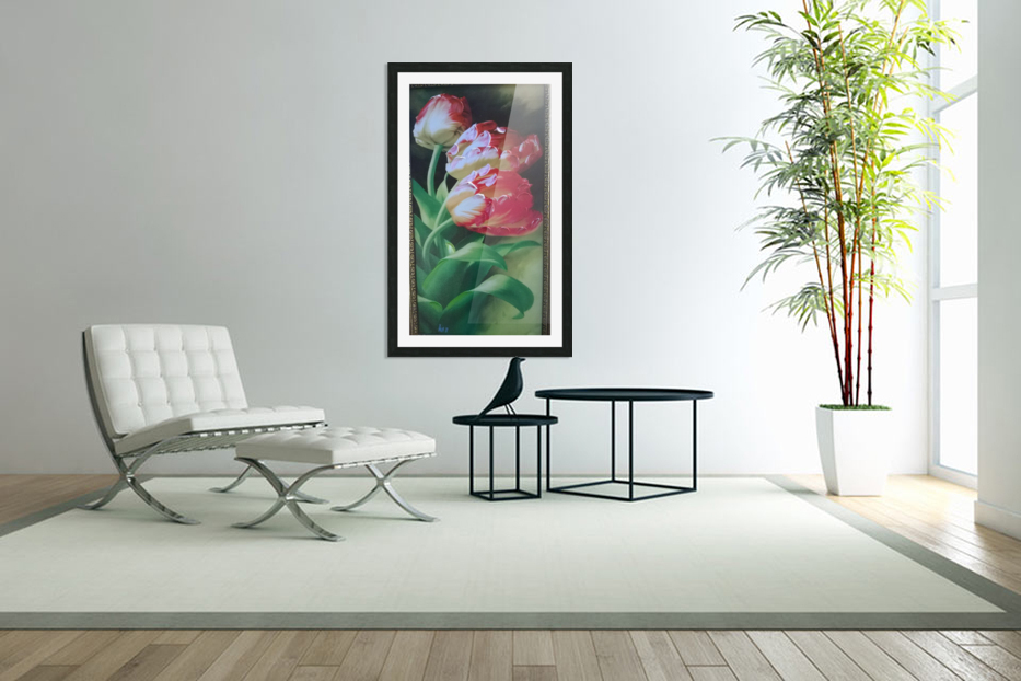 red flowers for  lovers  in Custom Picture Frame