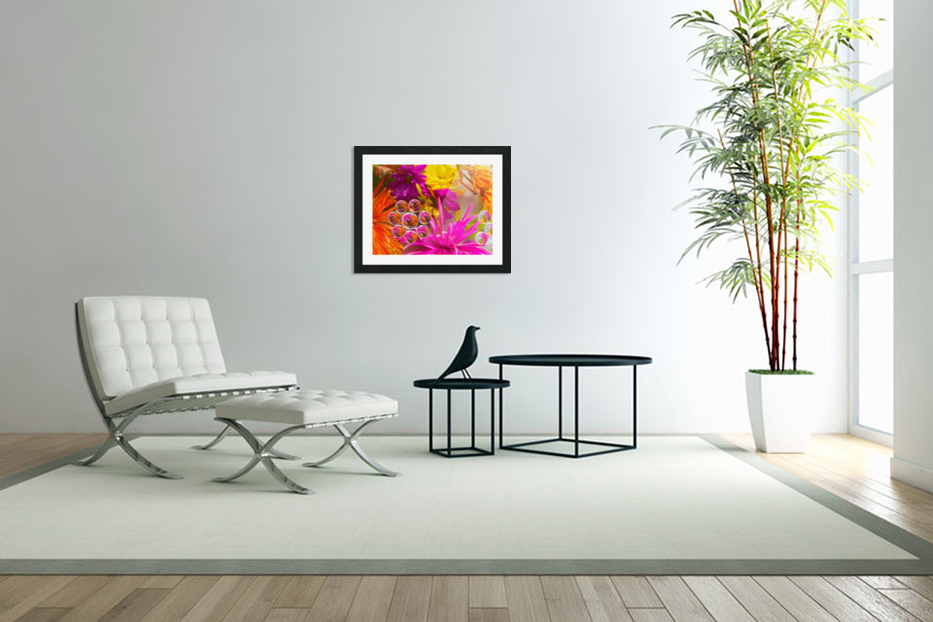 FLOWERS REFRACTION 10 in Custom Picture Frame