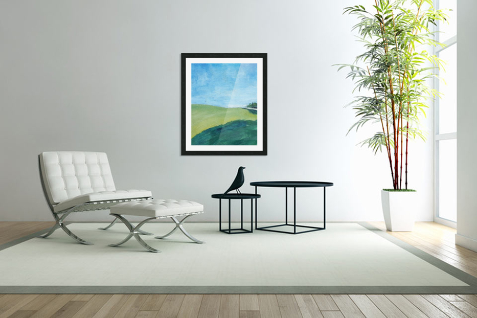 Study for Fields at Cossall in Custom Picture Frame