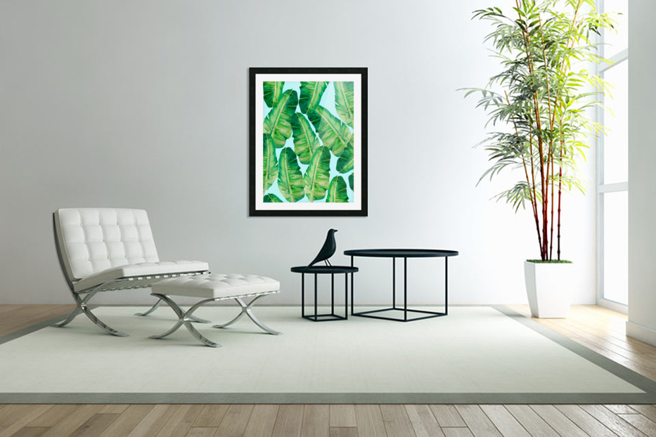 Tropical and exotic pattern II in Custom Picture Frame