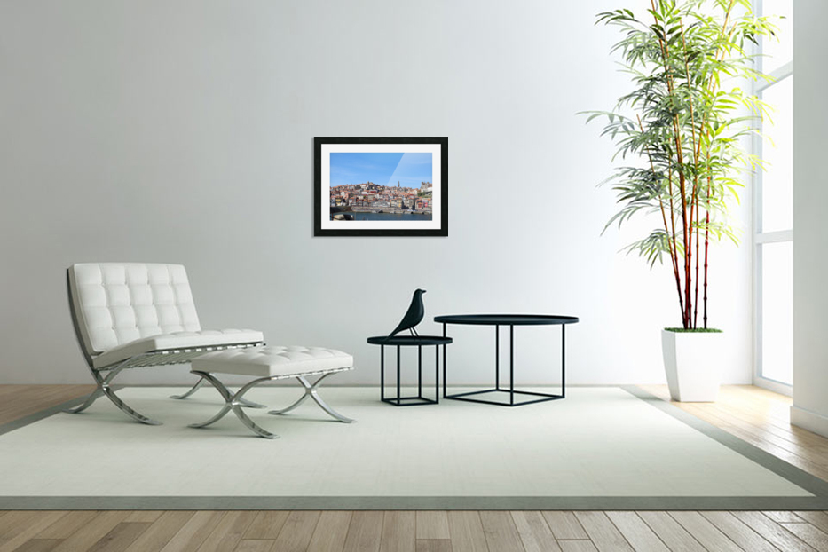 Oporto City at Douro River in Custom Picture Frame