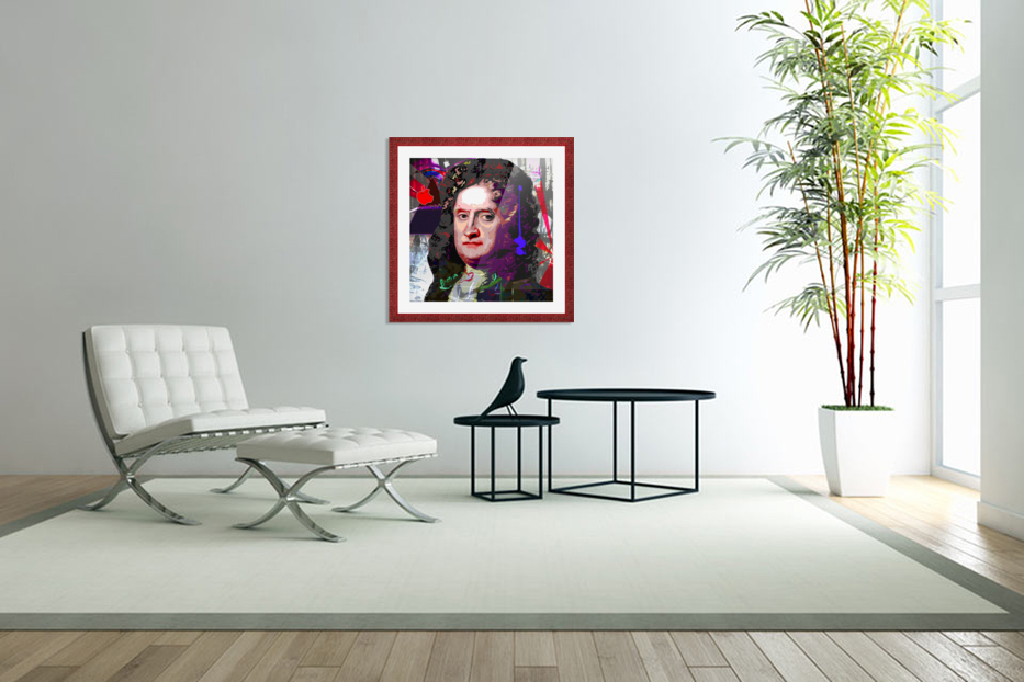 Newton in Custom Picture Frame
