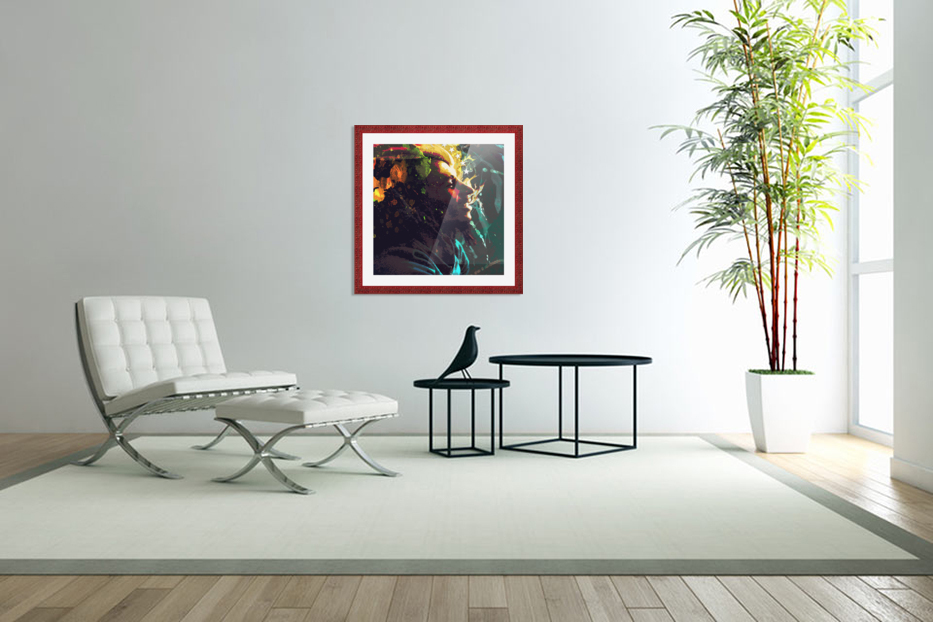 Marley in Custom Picture Frame