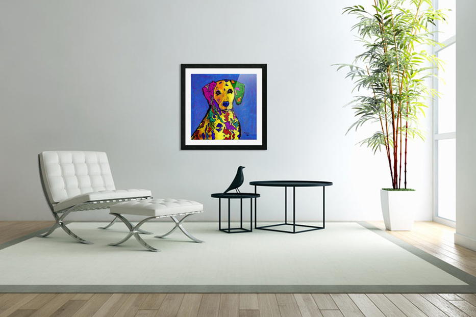 RAINBOW DALMATION  in Custom Picture Frame
