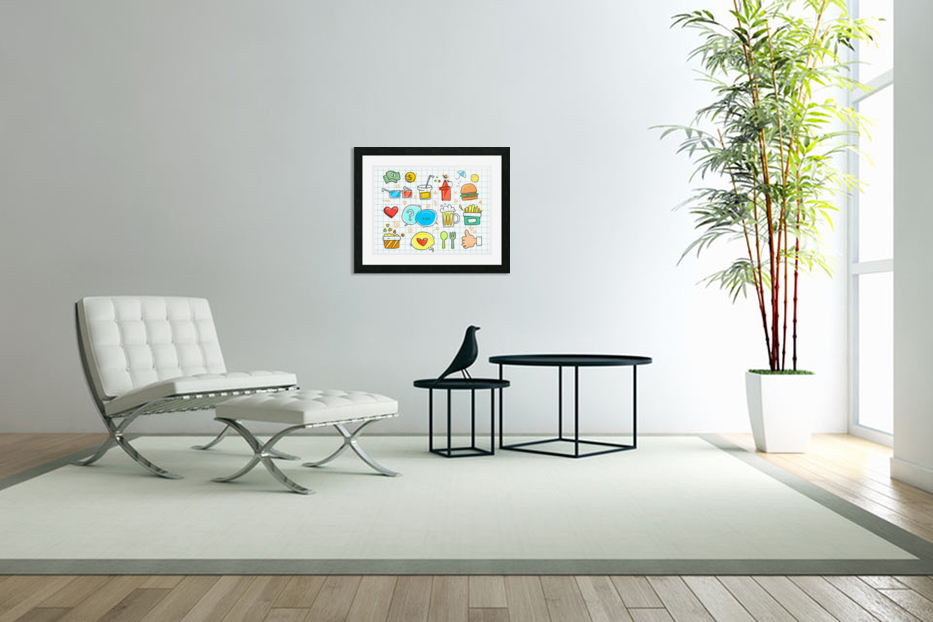colorful doodle in Custom Picture Frame