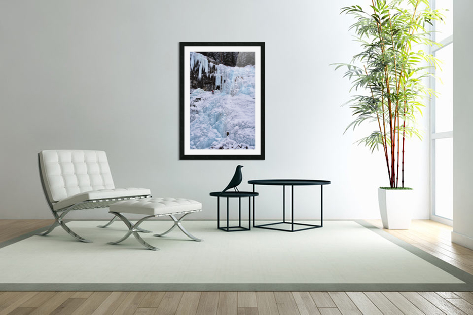 Ice Climbing Waterfall in Custom Picture Frame