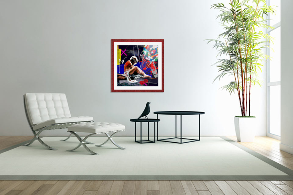 Christ X in Custom Picture Frame