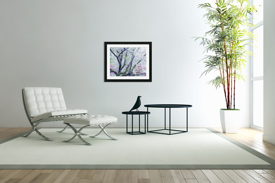 Cherry tree flowers in Custom Picture Frame
