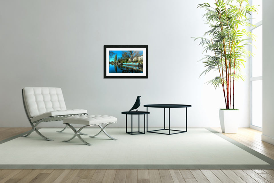 River and Boats - London  in Custom Picture Frame