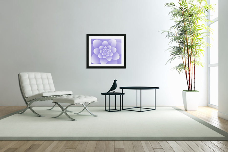 Purple Floral Spiral Artwork in Custom Picture Frame