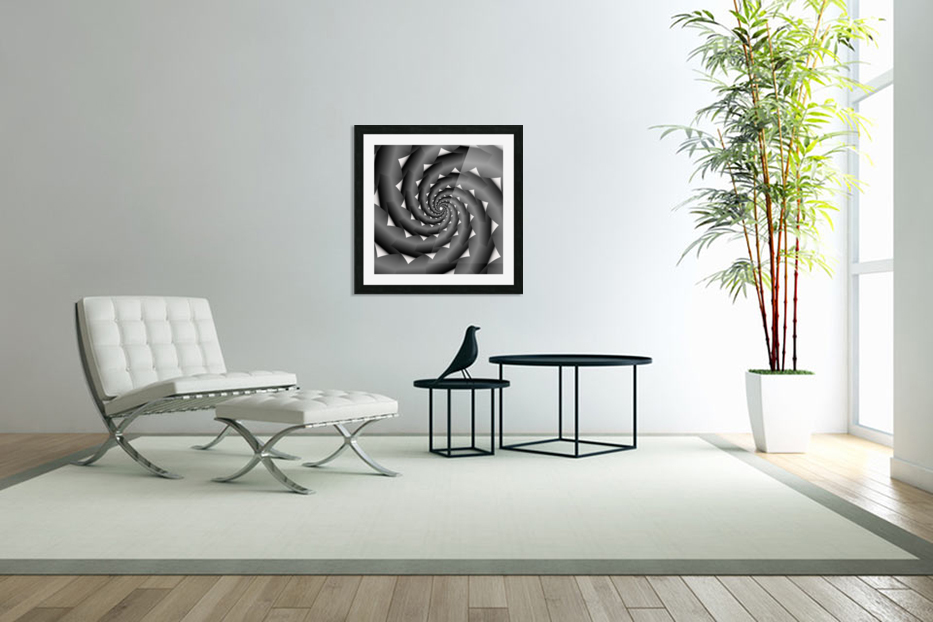 3d Abstract Spiral Design in Custom Picture Frame