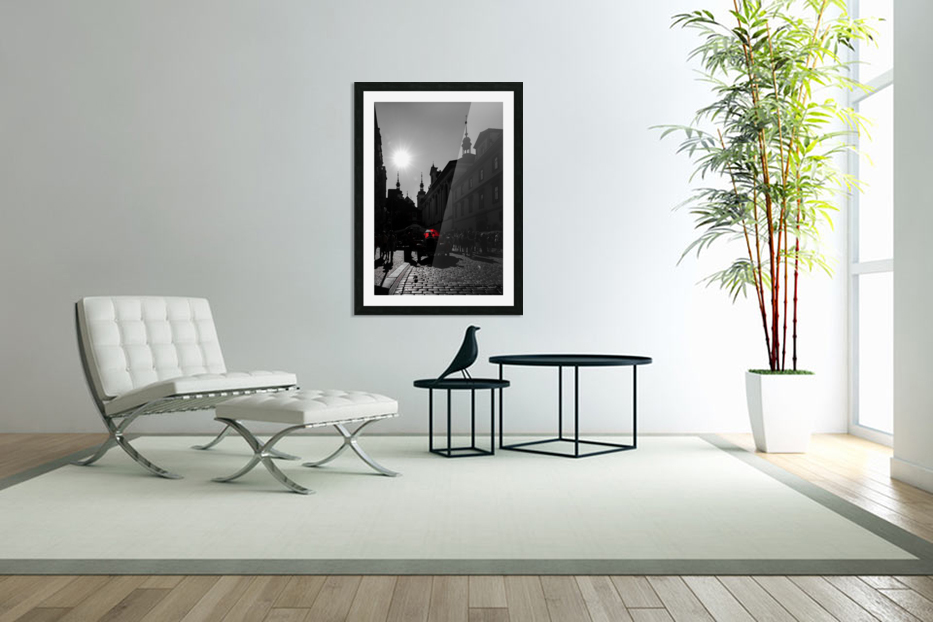 Le parapluie rouge in Custom Picture Frame