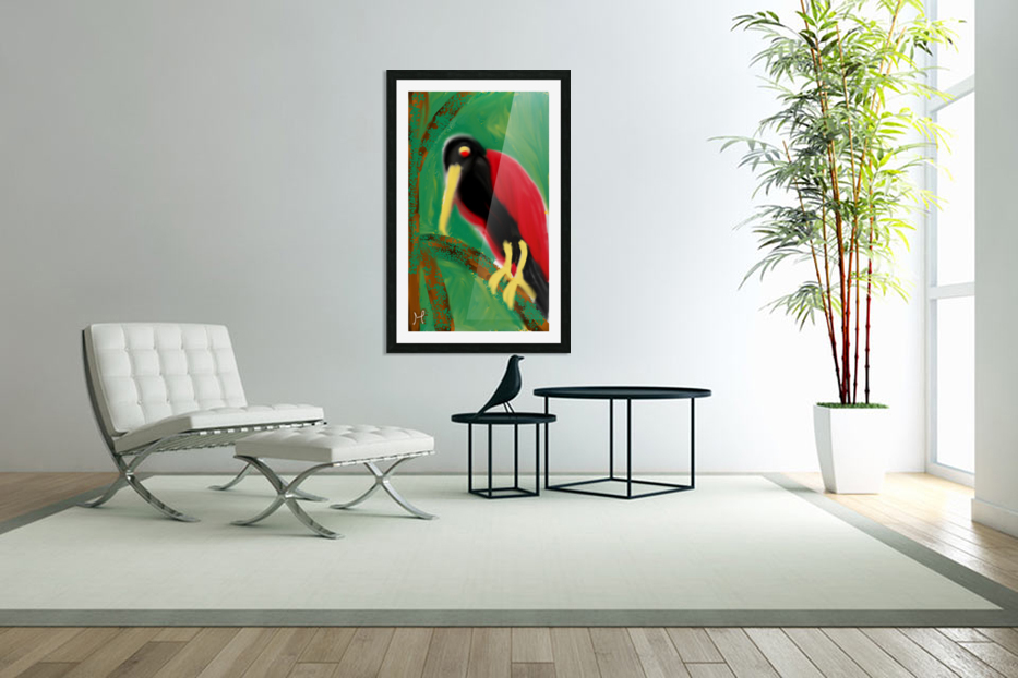 Woodpecker  in Custom Picture Frame