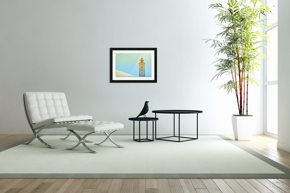 Lighthouse Rubjerg Knude in Custom Picture Frame