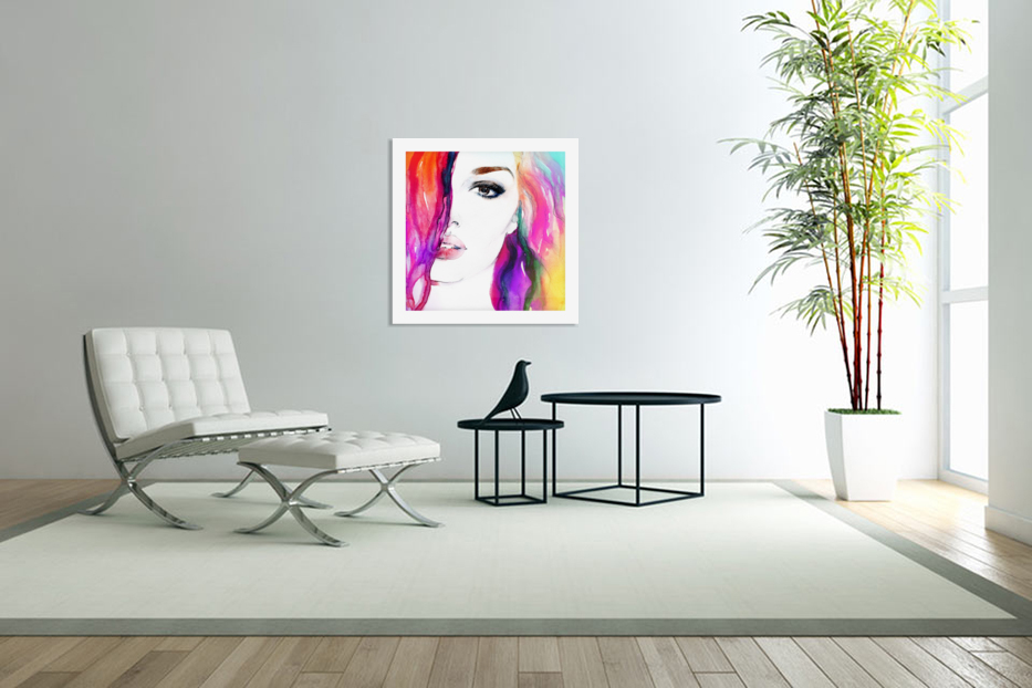 Abstract Woman in Custom Picture Frame