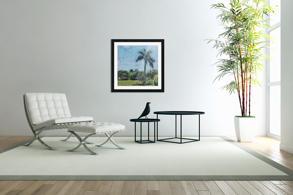 A Monet style Palm in Custom Picture Frame