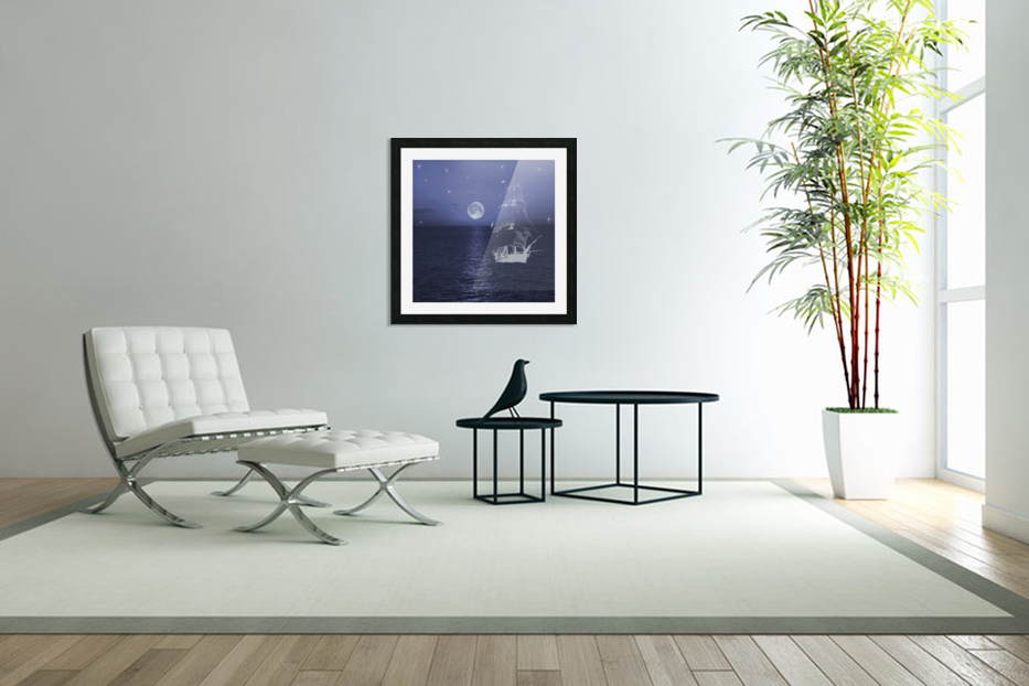 Ghost Ship in Custom Picture Frame