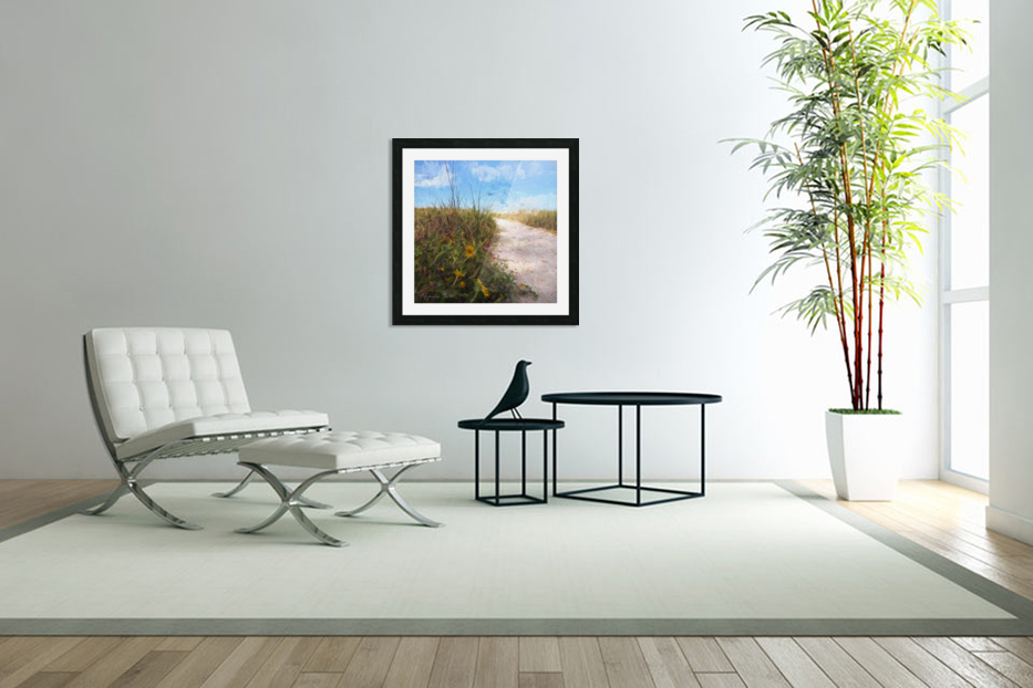 A Trail to the Beach in Custom Picture Frame