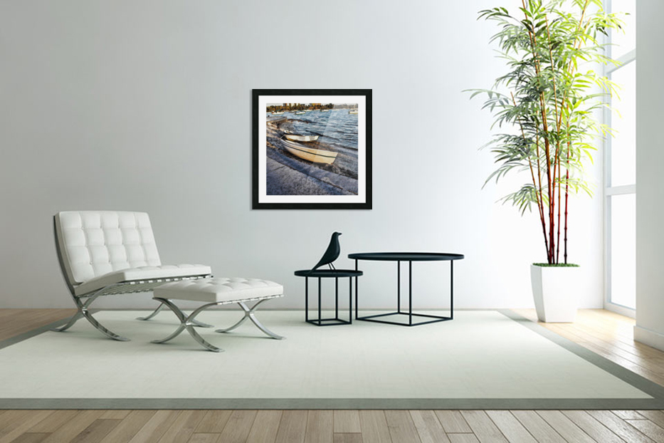 Boats At The Bay in Custom Picture Frame
