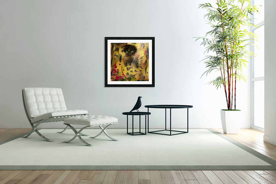 Asia Woman in Custom Picture Frame
