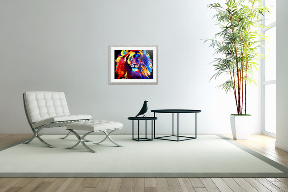 Lion Rainbow in Custom Picture Frame