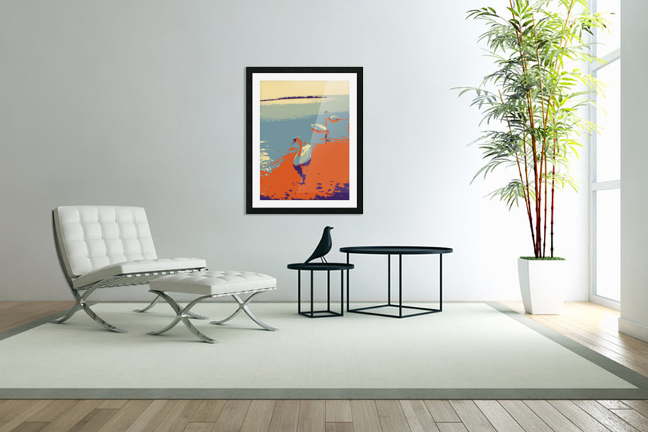Swans in Custom Picture Frame