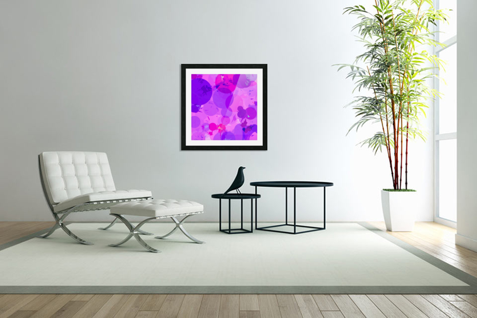 geometric circle and triangle pattern abstract in pink purple in Custom Picture Frame