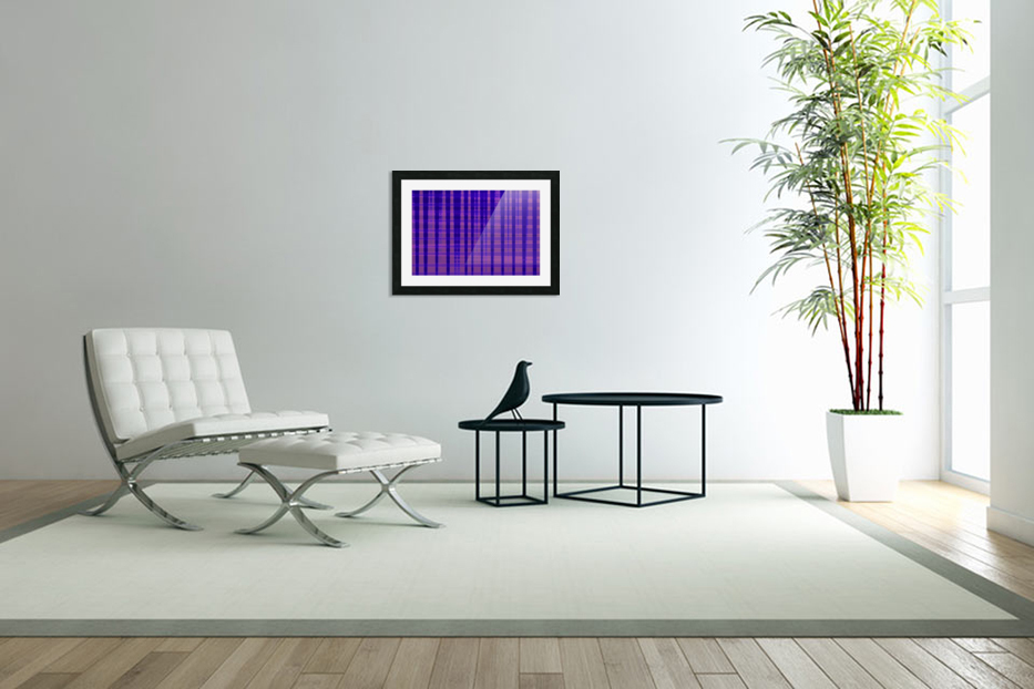 Abstract vioret in Custom Picture Frame